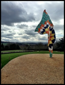 Yinka Shonibare, Wind Sculpture, 2013. Installed at the Yorkshire Sculpture Park