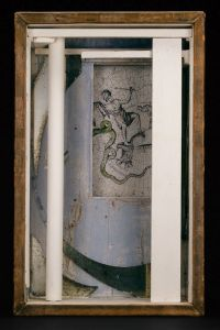 Joseph Cornell, Pavilion, 1953, box construction, 18 7/8 x 11 7/8 x 6 1/2 in. Art Institute of Chicago