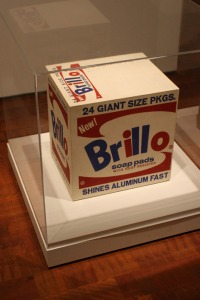Andy Warhol, Brillo Box, 1964, silkscreen and ink on wood, 17 x 17 x 14 inches