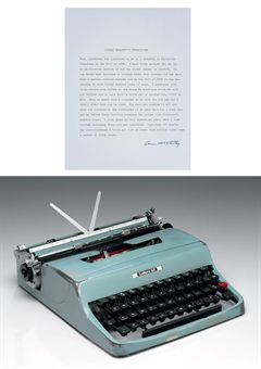 Cormac McCarthy's Olivetti Lettura 32, auctioned at Christies in 2009