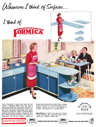 Formica Advertisement, 1955, published in Ideal Home. http://www.flickr.com/groups/midcenturyinprint/