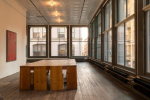 Second floor of the restored SoHo home and studio of Donald Judd. Dining table designed by Judd. Photographer: Joshua White/Judd Foundation via Bloomberg