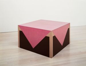 Richard Artschwager, Table with Pink Tablecloth, 1964, Formica on Wood, Art Institute of Chicago