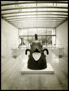 Joan Miró's Goddess, installed at the Nasher Sculpture Center. Photo by author.