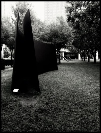 Richard Serra's My Curves Are Not Mad (1987), currently installed in the garden of the Nasher Sculpture Center, Dallas