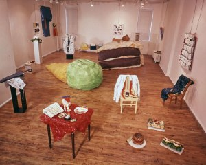 Installation of work by Claes Oldenburg at the Green Gallery, New York, 1962