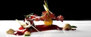 Dish prepared for Alinea Restaurant, Chicago by Grant Achatz
